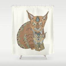 Wild Cats Love Shower Curtain
