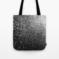 Silver Sparkle Glitter Tote Bag