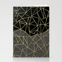 Ab Half And Half Gold Stationery Cards