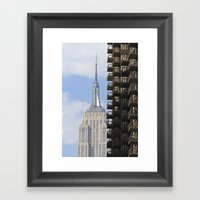 The Old And The New Framed Art Print