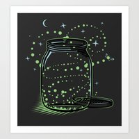 The Empty Jar Of Firefli… Art Print