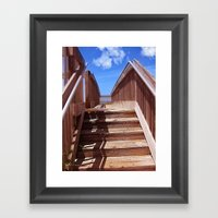 Seaside Steps Framed Art Print