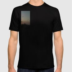 migrating birds Mens Fitted Tee SMALL Black