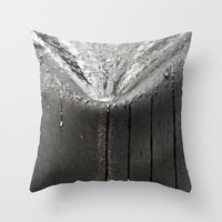 Silver Rain Throw Pillow