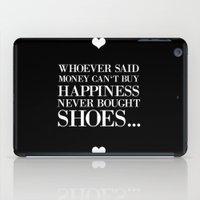 happiness black iPad Case