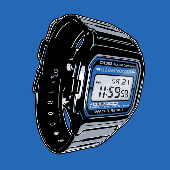Casio F-105 Digital Watch Art Print