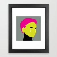Crying Girl Framed Art Print