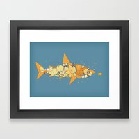 Snack Attack Framed Art Print