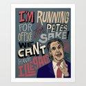 Romney's Illegals Art Print
