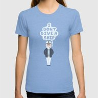 Indifferent Captain Womens Fitted Tee Tri-Blue MEDIUM