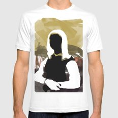 Mona SMALL White Mens Fitted Tee