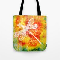 Dragonfly In Embroidered… Tote Bag