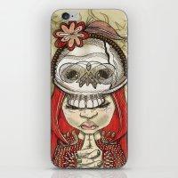 i wear my lucky skull  iPhone & iPod Skin