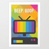 Beep. Boop. Art Print