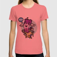 Bear Teddy Womens Fitted Tee Pomegranate SMALL