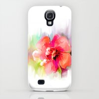 Galaxy S4 Cases featuring   watercolor flower by tatiana-teni