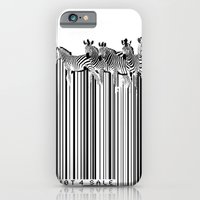 Zebra Barcode iPhone 6 Slim Case