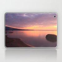 Fiery Sunset over the Porkies Laptop & iPad Skin