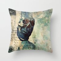 Skullman Throw Pillow