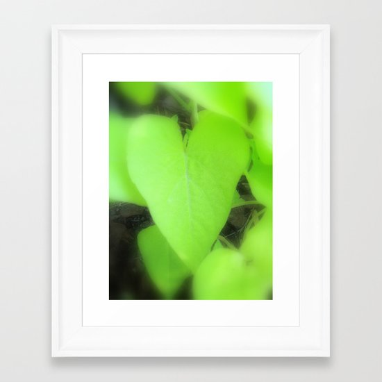 The Heart of Mother Earth Framed Art Print