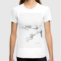 pointe shoes Womens Fitted Tee White SMALL