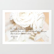 Roses and Scripture Art Print