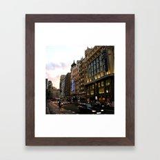 Gran Vía - Madrid Framed Art Print