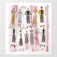 Ode to Austen Art Print