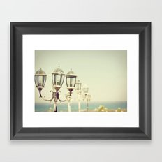 Sea Lamps Framed Art Print