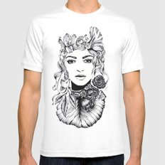 Nature Woman  SMALL Mens Fitted Tee White