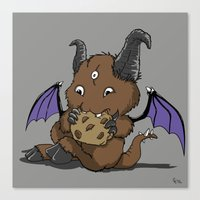 Cookie Nomster Canvas Print