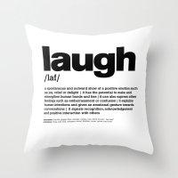 Definition LLL - Laugh 3 Throw Pillow