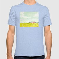 Oil painting house Mens Fitted Tee Tri-Blue SMALL