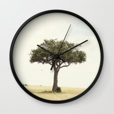tree hugger::kenya Wall Clock