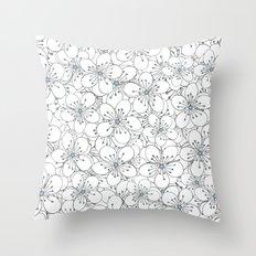 Cherry Blossom Blue - In Memory of Mackenzie Throw Pillow