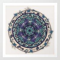 Morning Mist Mandala Art Print