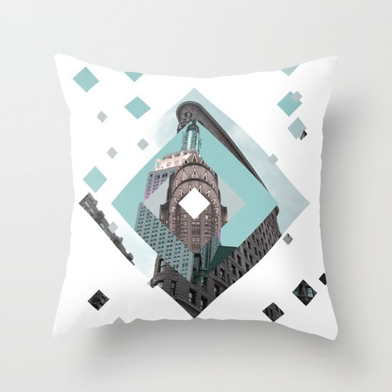New York City Diamonds Throw Pillow