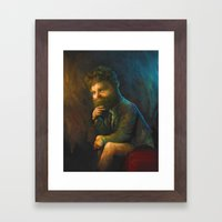 Zach Galifianakis Framed Art Print