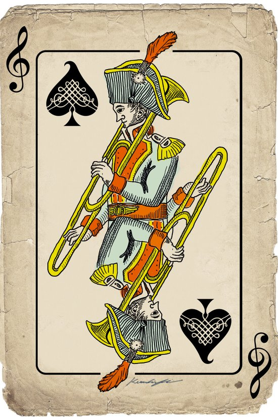musical poker / trombone Art Print