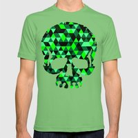 Triangle Camouflage Skul… Mens Fitted Tee Grass SMALL