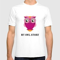 My owl story Mens Fitted Tee White SMALL