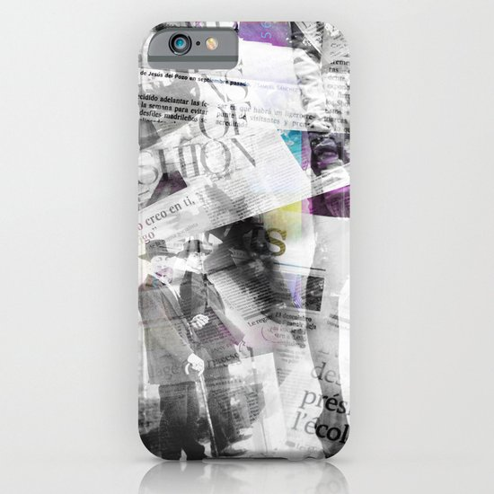 Newspaper collage iPhone & iPod Case
