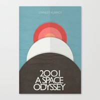 2001 a Space Odyssey - Stanley Kubrick Movie Poster Canvas Print