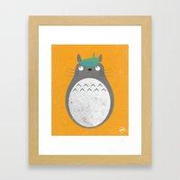 Homenaje a Totoro Framed Art Print