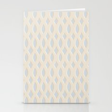 Light Blue And Cream Des… Stationery Cards