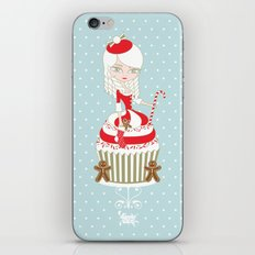 Merry Lady Christmas Cupcake iPhone & iPod Skin