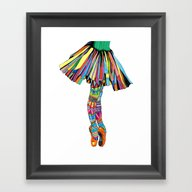 Framed Art Print featuring Happy Ballerina by Heaven7