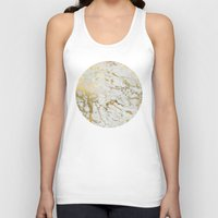 Gold Marble Unisex Tank Top