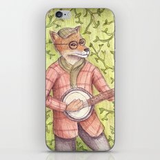 Play us a song Mr. Fox iPhone & iPod Skin