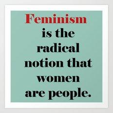 Feminism  Art Print